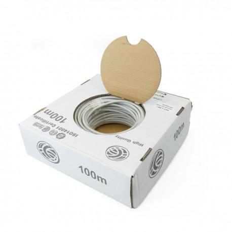 Bobina cable LSHF UTP Cat.6 24AWG rígido 100m