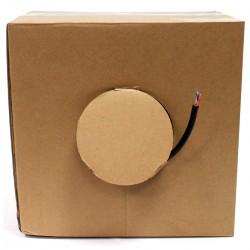 Bobina cable de red FTP Cat.6 23AWG para exterior rígido negro 100m