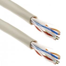 Bobina de cable de red LAN UTP categoría cat.6 24AWG CCA rígido gris 100m