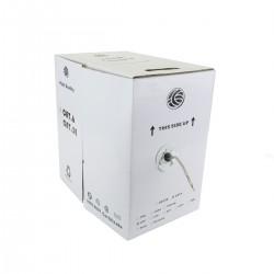 Bobina de cable de red LAN UTP categoría cat.6 24AWG CCA rígido gris 305m