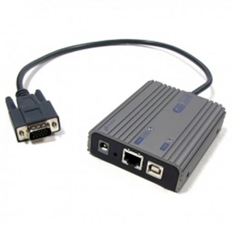 Extensor de vídeo sobre LAN para VGA de 1280x1024 Rextron xtraViU prolongador