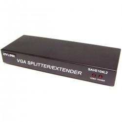 Extensor DYLINK de VGA y audio por UTP Cat.5 LOCAL 4 puertos