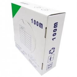 Bobina cable FTP categoría 6 24AWG CCA rígido verde 100m