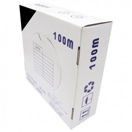 Bobina cable UTP categoría 5e 24AWG CCA rígido negro 100m