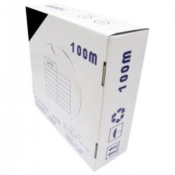 Bobina cable UTP categoría 6 24AWG CCA rígido negro 100m