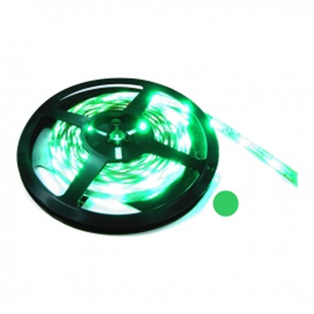 Tira de LEDs flexible 13 lm/led 30 led/m de 5m IP44 verde