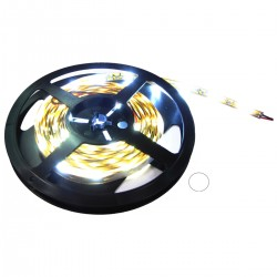 Tira de LEDs flexible 13 lm/led 30 led/m de 10m blanco calido