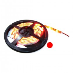 Tira de LEDs flexible 6.5 lm/led 60 led/m de 5m IP44 rojo