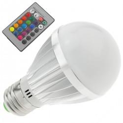 Bombilla LED RGB 3W con mando a distancia