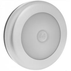 Luz LED redonda con sensor movimiento y luz por inducción para puertas e interiores de armarios