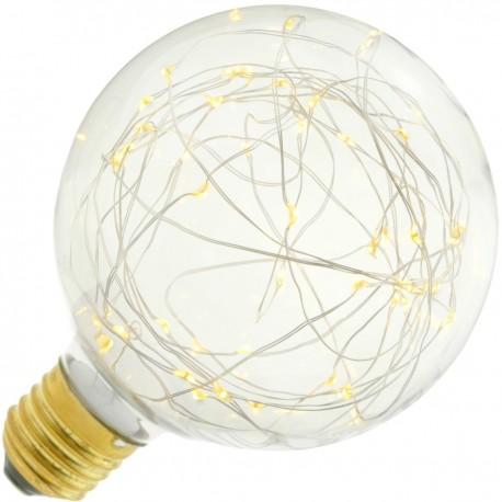 Bombilla LED fantasía G95 1.4W luz cálida 2200K
