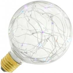 Bombilla LED fantasía G95 1.4W luz RGB