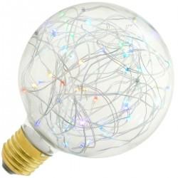 Bombilla LED fantasía G95 1.4W luz RGB variable