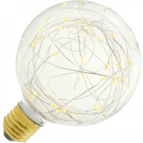 Bombilla LED fantasía G125 1.4W luz cálida 2200K