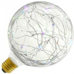 Bombilla LED fantasía G125 1.4W luz RGB variable