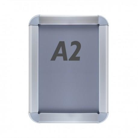 Marco de aluminio A2 465x635mm redondeado para cartel anuncio poster