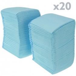 20 empapadores absorbentes de 60 x 90 cm. Toallas de entrenamiento para perros cachorros