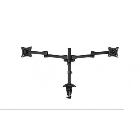 "Soporte de escritorio para 2x LCD/TFT 10-24"" negro"