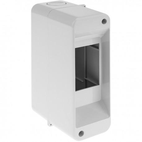 Caja de superficie de automatismos eléctricos para 2 módulos de 18 mm de plástico ABS