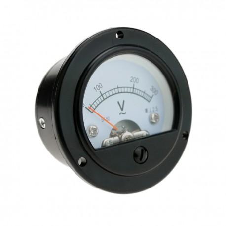 Medidor eléctrico analógico de panel redondo 52mm 300V voltímetro