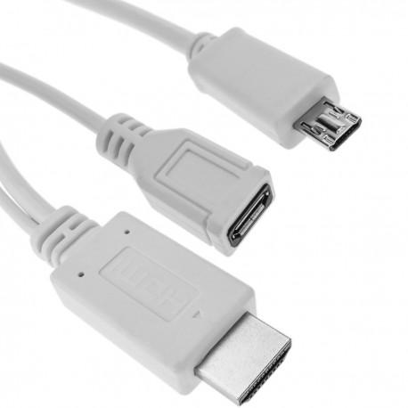 Cable conversor MHL a HDMI para Samsung Galaxy S4 Samsung Galaxy S3 y Note