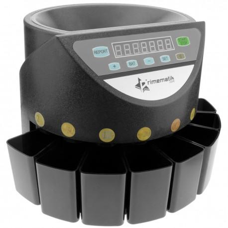 Contador de monedas con clasificador automático para Euro DB360 negro