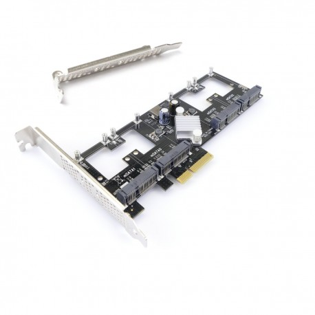 Tarjeta PCIe PCIexpress a SATA3 SATAIII mSATA de 4-puertos