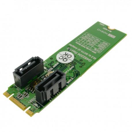 Tarjeta adaptadora SSD M.2 a SATA 2 x 7-pin