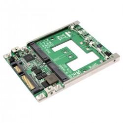 """Adaptador 2.5"""" SATA a mSATA de 2 puertos SSD"""
