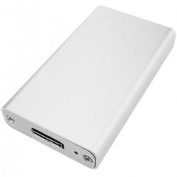 Caja externa plateada USB 3.0 a mSATA SSD 27mm