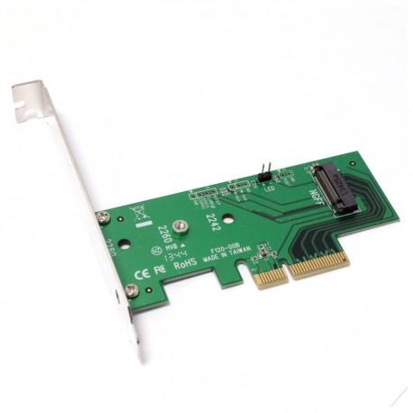 Tarjeta PCIe PCI-Express a disco duro SSD NGFF M.2 de un puerto