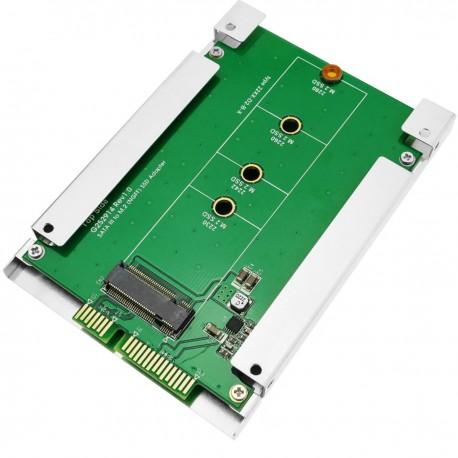 """Adaptador SATA a disco duro SSD NGFF M.2 de un puerto con adaptador de 2.5"""""""