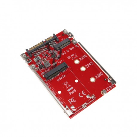 "Adaptador conversor SSD M.2 NGFF mSATA a disco SATA SSD 2.5"""