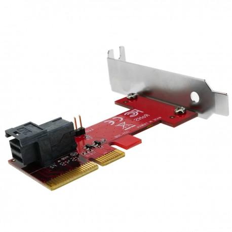 Tarjeta PCIe PCI Express con MiniSAS HD SFF-8643 compatible con U.2 PCIe-NVMe SSD
