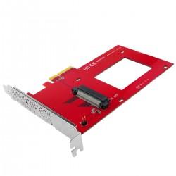 """Tarjeta PCIe PCI Express con SFF-8639 compatible con U.2 PCIe-NVMe SSD 2.5"""""""