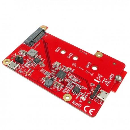 Adaptador Raspberry Pi USB a M.2 SATA SSD