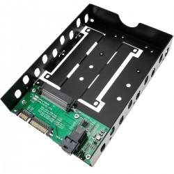 """Adaptador de disco duro 2.5"""" a 3.5"""" para U.2 NVMe SAS miniSAS-HD SATA SSD HDD"""