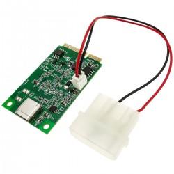 Adaptador miniPCIe a USB 3.1 tipo C reversible