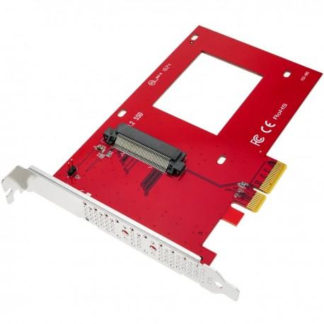 "Tarjeta adaptadora de PCIe a NVMe 2.5"" U.2 SSD 4X"