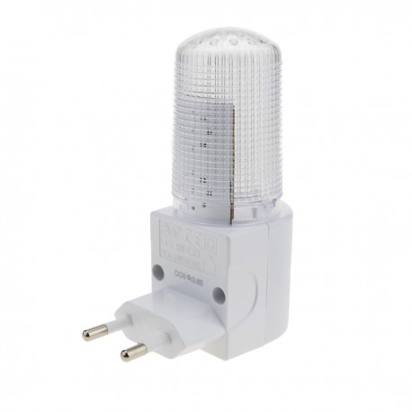 Luz LED nocturna con interruptor 1W tipo enchufe 230VAC transparente