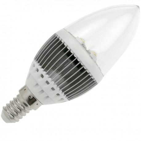 Bombilla LED C35 E14 230VAC 4W luz cálida