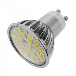 Bombilla LED SMD GU10 230VAC 3W 120° 50mm luz cálida
