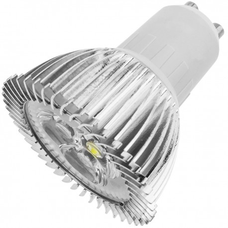 Bombilla LED GU10 230VAC 4W 30° 50mm luz cálida