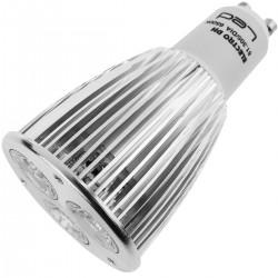 Bombilla LED GU10 230VAC 6W 45° 50mm luz cálida