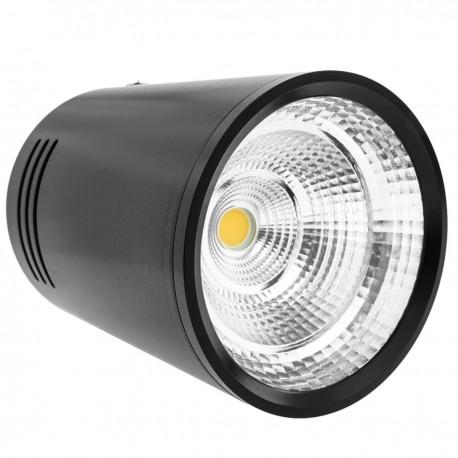 Foco LED de superficie Lámpara COB 5W 220VAC 6000K negra 75mm