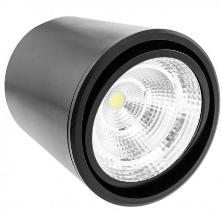 Foco LED de superficie Lámpara COB 7W 220VAC 6000K negra 90mm