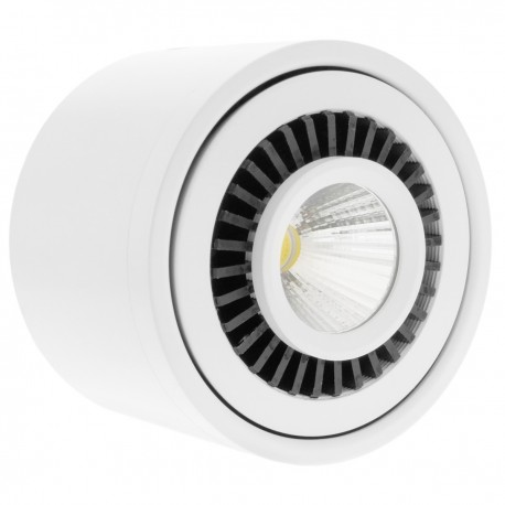 Foco LED de superficie Lámpara COB 9W 220VAC 3000K blanca 85mm