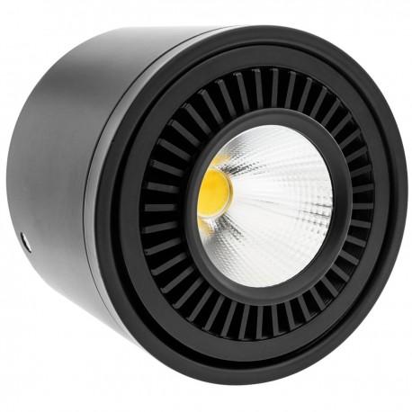 Foco LED de superficie Lámpara COB 9W 220VAC 3000K negra 85mm
