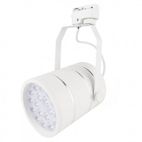 Foco LED de rail 18W blanco frío día 120x155 mm blanco