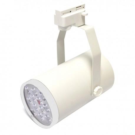 Foco LED de rail 12W blanco frío día 100x190mm blanco marfil